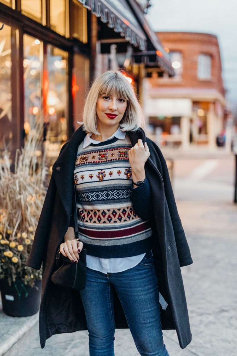 christmas sweater jcrew street style (2 of 3)