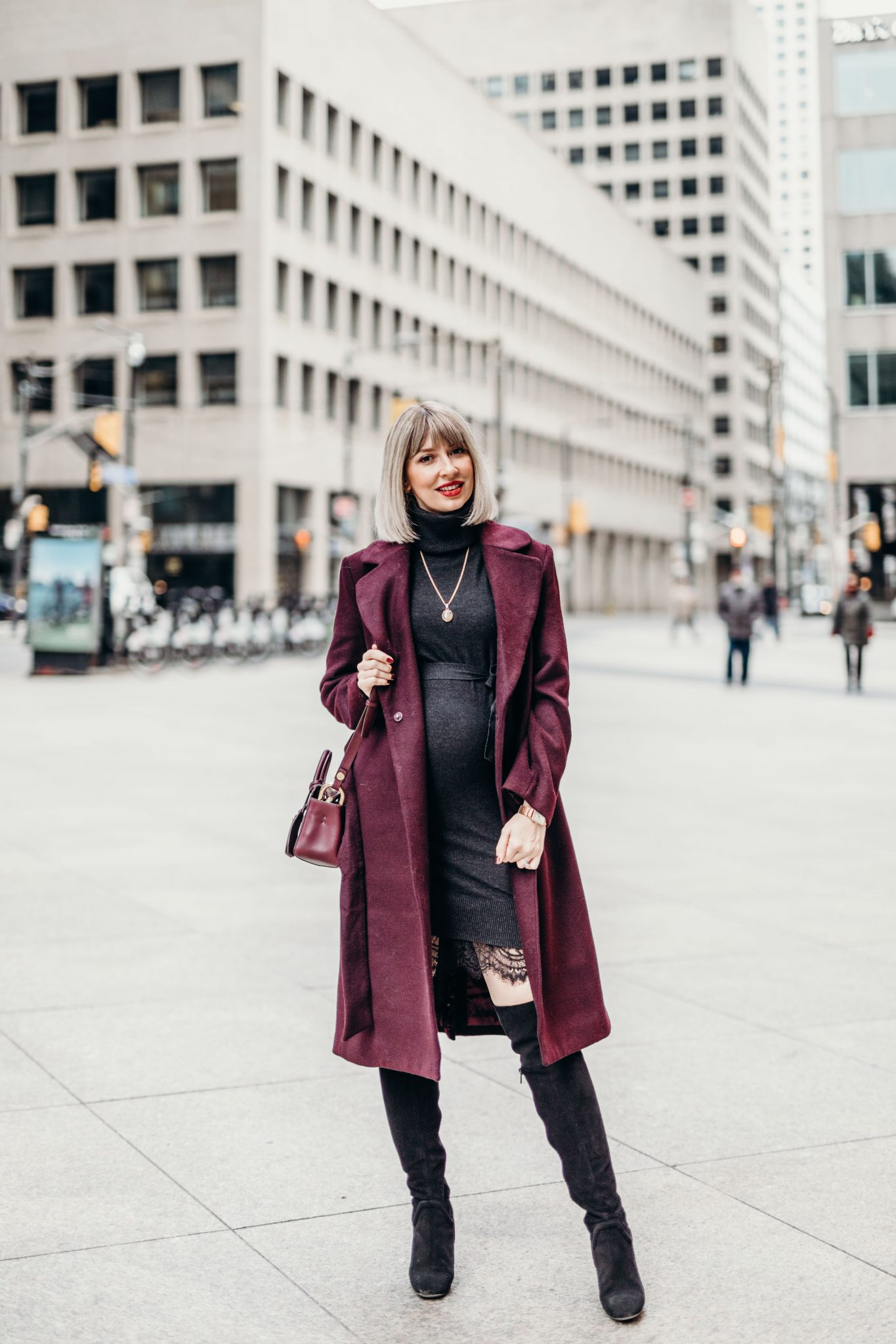 Long Wool Coat street style 1