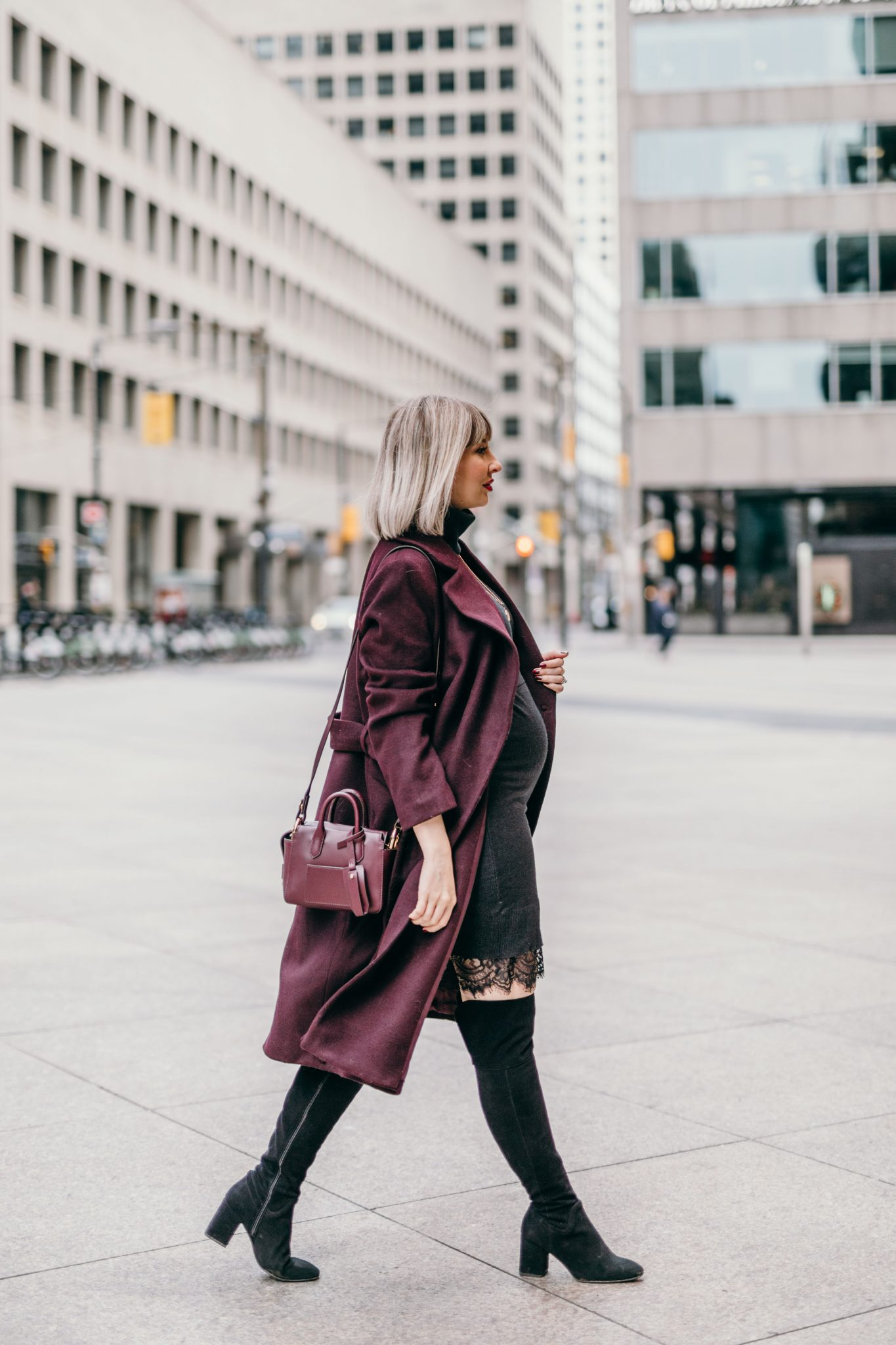 Long Wool Coat street style 3