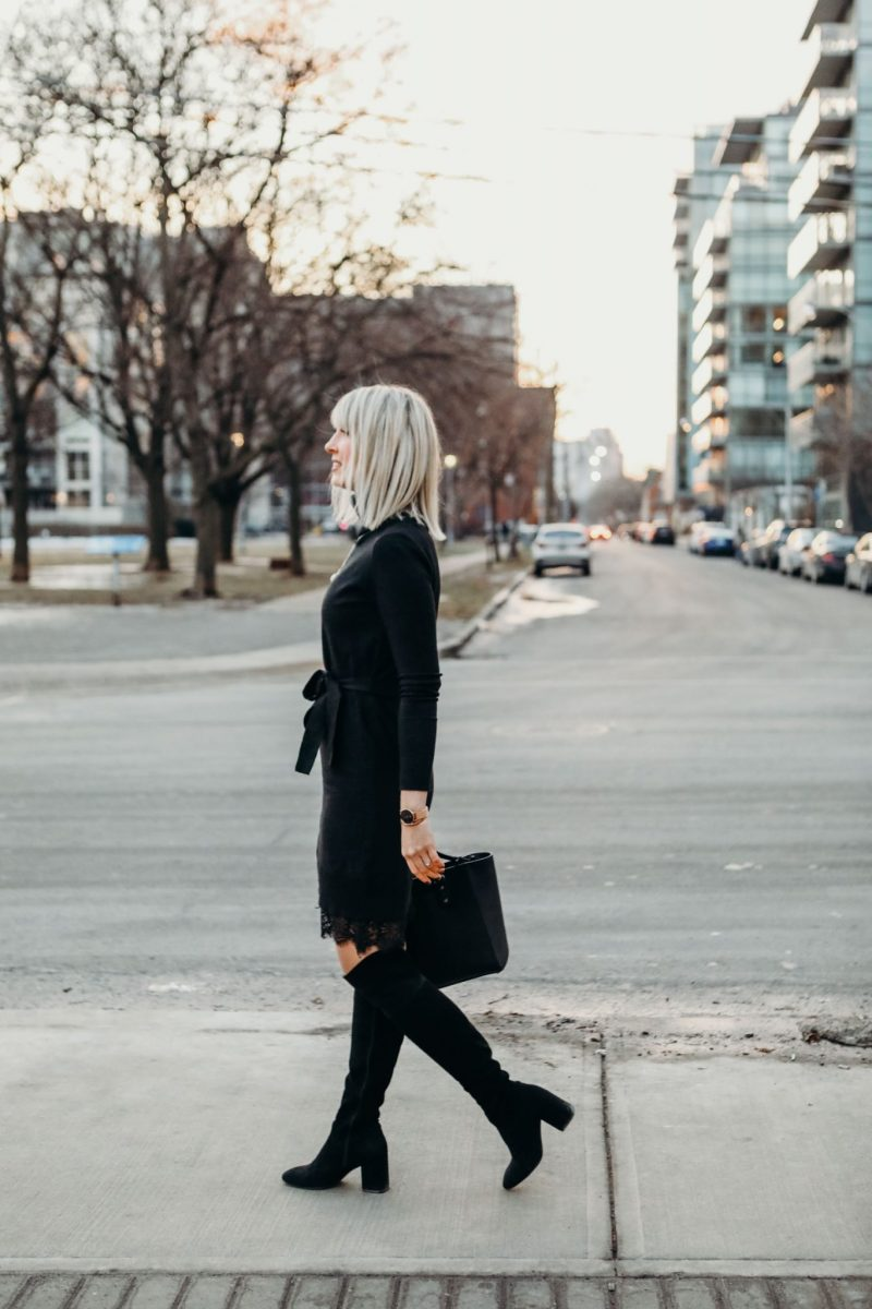 sweater dress street style
