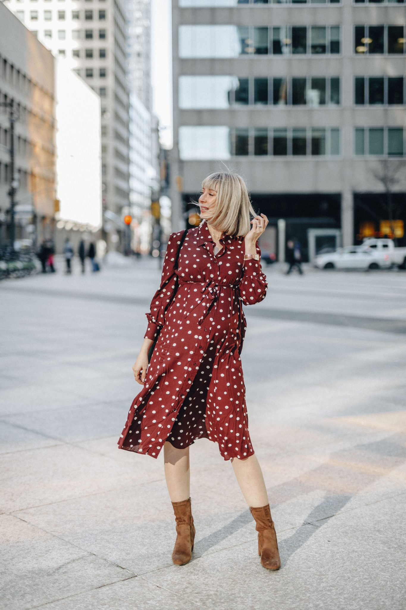 elevated shirt dress style Isabella Oliver 4