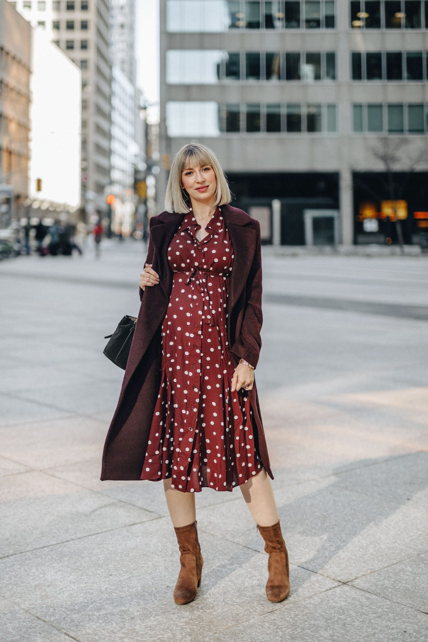 elevated shirt dress style Isabella Oliver 1
