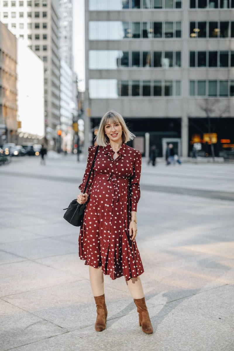 elevated shirt dress style Isabella Oliver 2