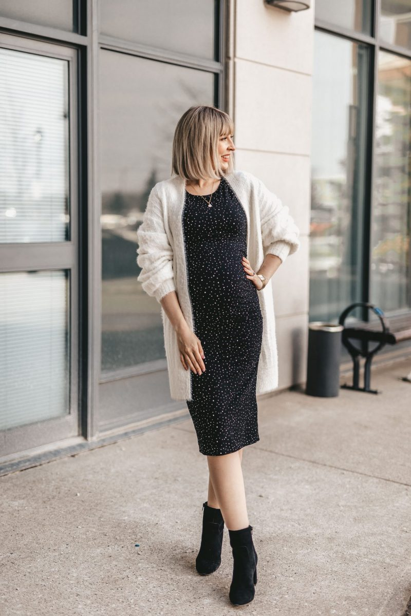 Maternity shirt dress street style NE (3 of 7)