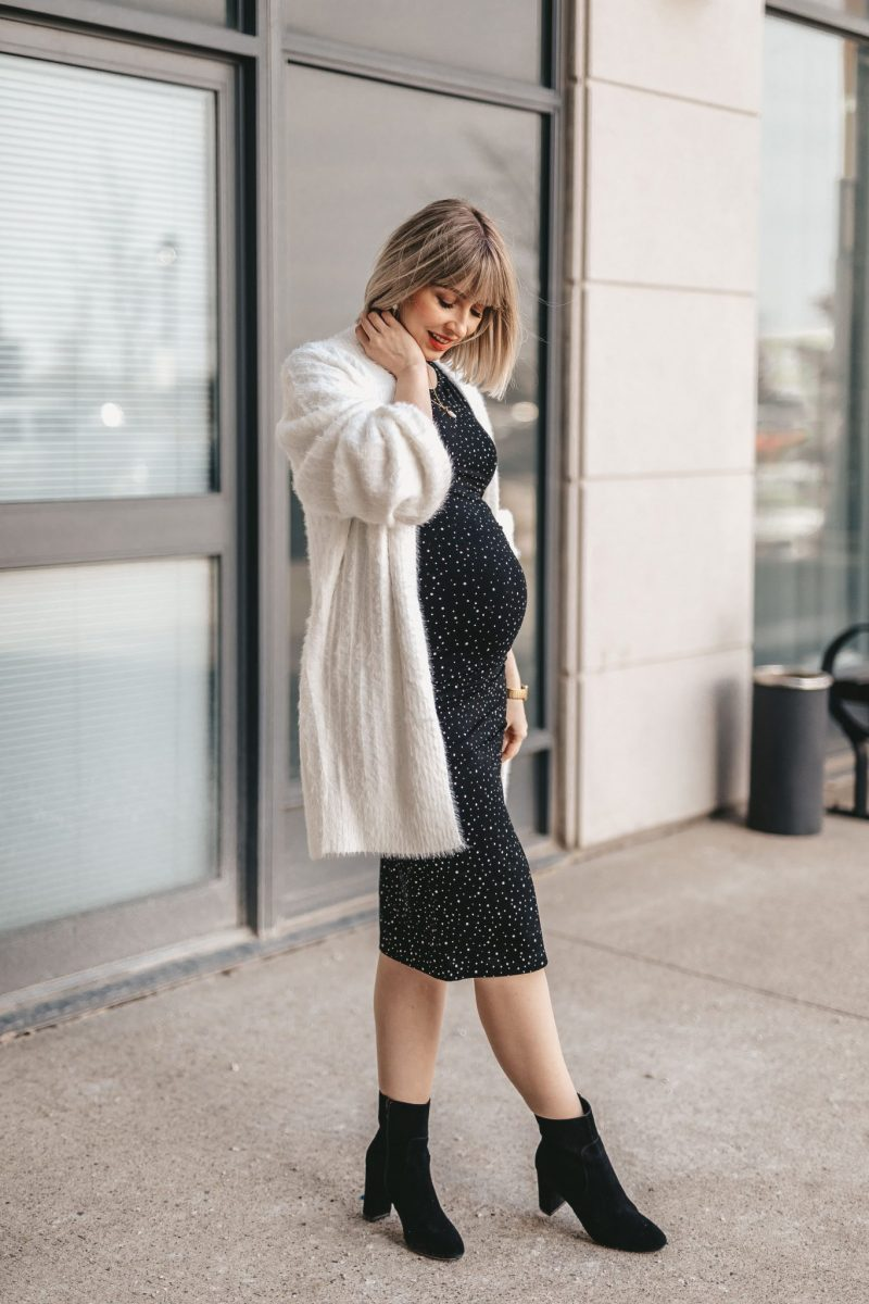 Maternity shirt dress street style NE (4 of 7)