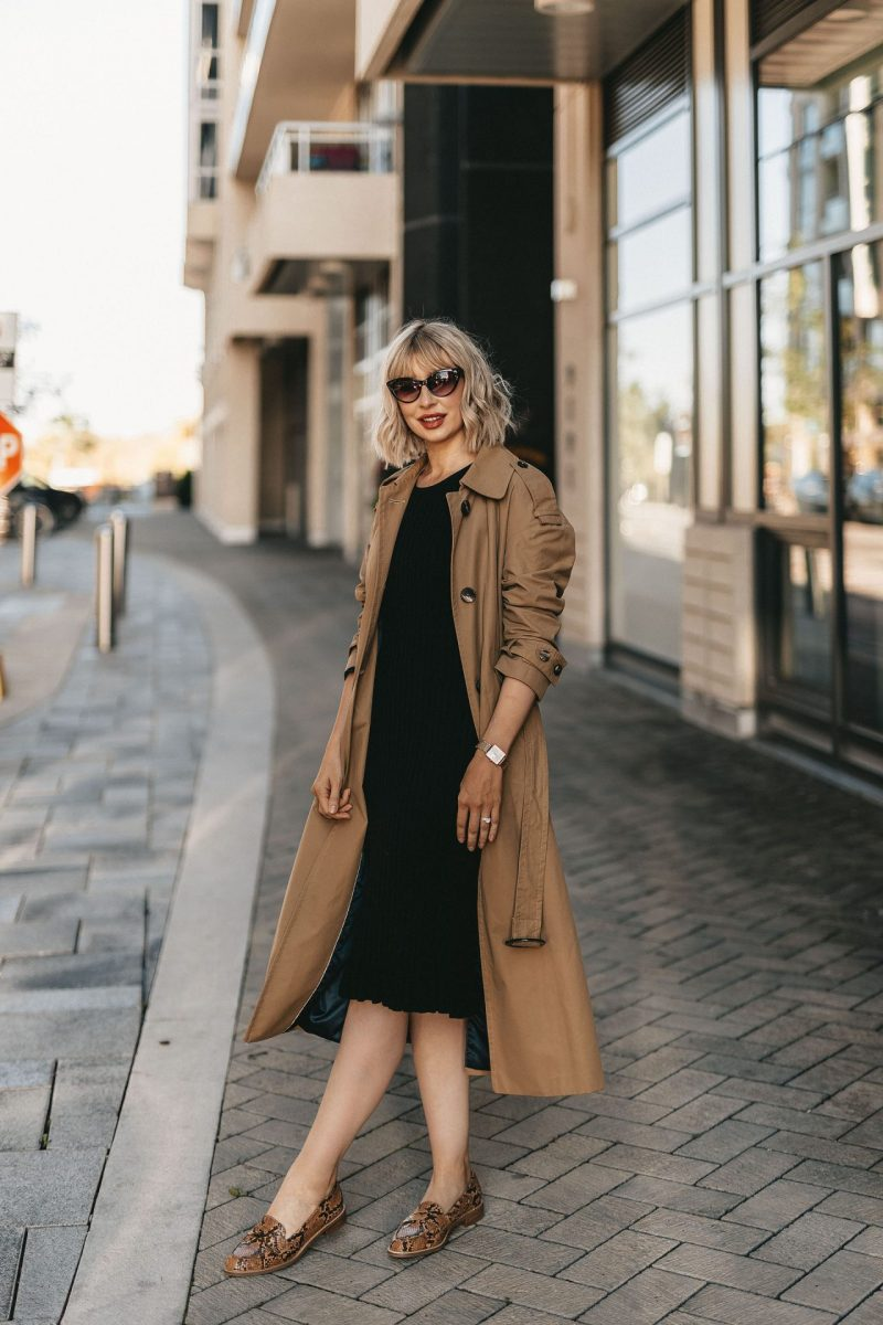 trench coat & knit dress (2 of 5)