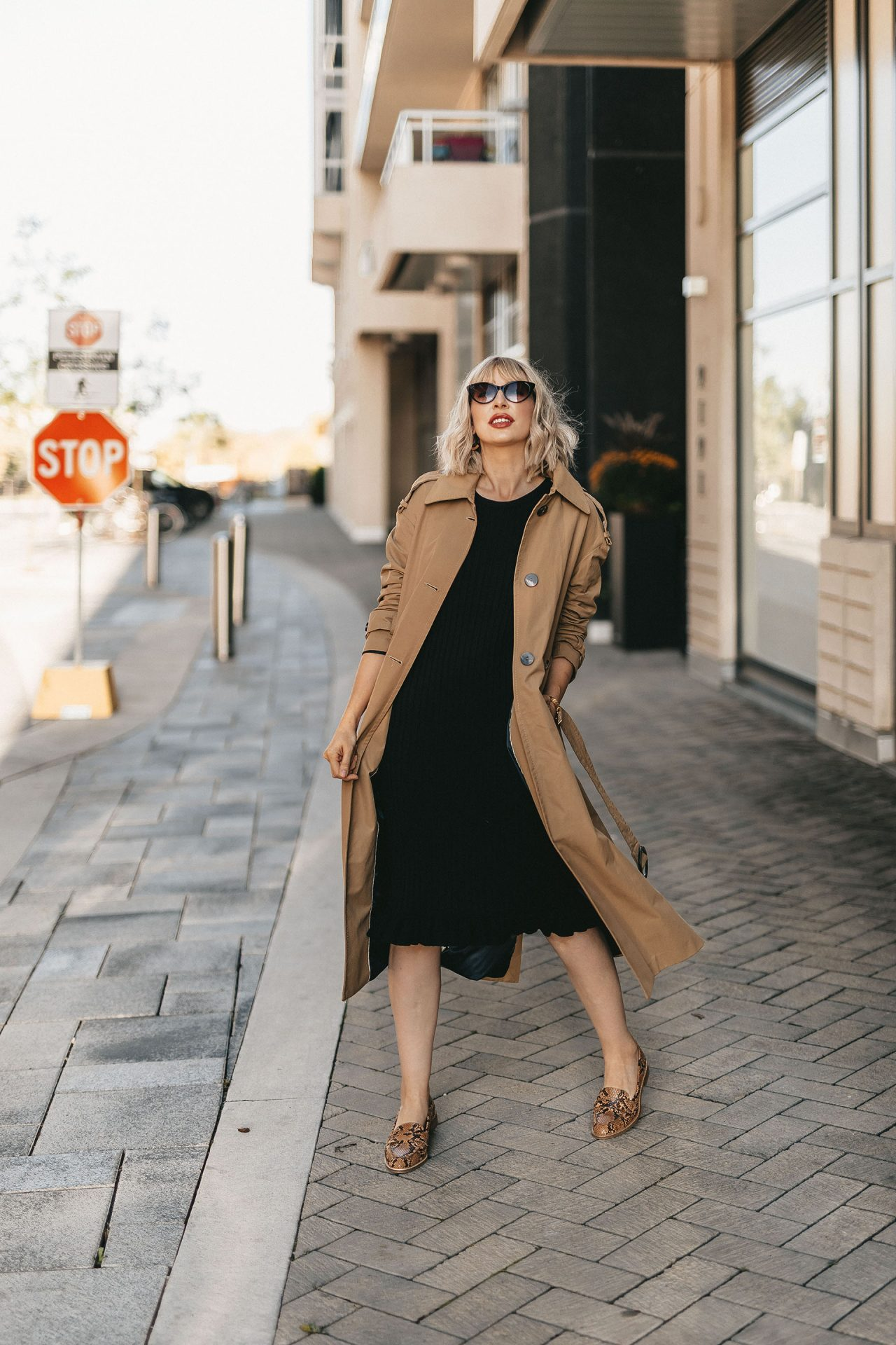 trench coat & knit dress (5 of 5)